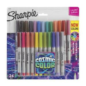 Sharpie Permanent Markers Ultra Fine Point Cosmic Color Limited Edition 24 C
