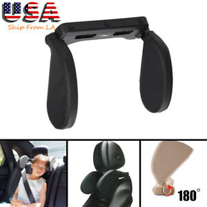 1x Car Seat Pillow Headrest Neck Support For Kids Adults Travel Sleeping Cushion