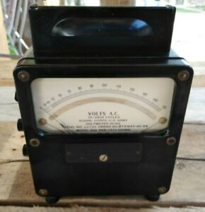 Weston Electric Signal Corps 25 2500 Cycles Ac Voltmeter 15 185 Vac