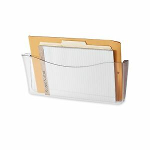 Rubbermaid Unbreakable Single Pocket Wall File Legal Size Clear 65980ros