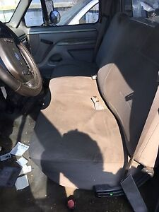1992 1996 Ford F 150 250 350 Pick Up Truck Front Bench Seat Gray Cloth Manual