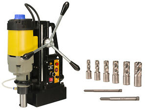 Steel Dragon Tools Md50 Magnetic Drill Press With Hss Annular Cutters