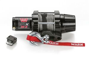 Warn Powder Coat Vrx 35 S Powersport 3 500 Lb Capacity Synthetic Rope Winch
