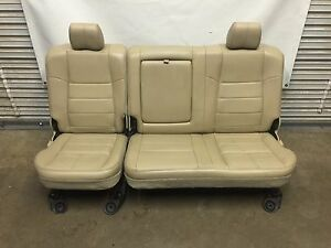 1999 2010 Ford F250 F350 F450 Super Duty Rear Seat Camel Tan Leather