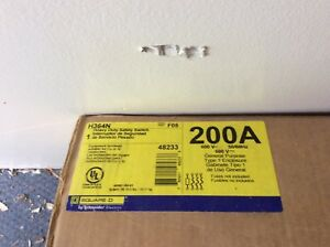 Square D H364n Hd Safety Switch 200a new