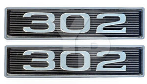 302 Chrome Plated Hood Scoop Emblem For 50l 302ci Engines Pair Fits 2005 Ford Mustang