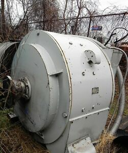 General Electric Erickson Equipment Co Inc Motor 500hp 500vdc 800amp Used