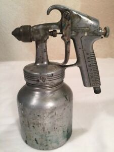 Vintage Devilbiss Spray Type Qga Series 501 Air Sprayer Paint Aluminum Canister