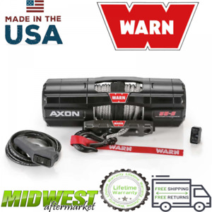 Warn Axon 55 S Powersport 5 500 Lb Capacity Spydura Synthetic Rope Winch
