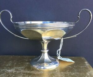 Antique English Sterling Silver Small Pedestal Bowl Compote Dish