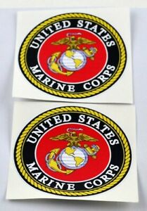 Nostalgia Decals Usmc Marine Corps Small Decal 4 3 Packs 2 Decals Each