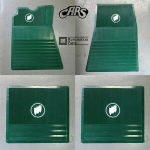 1961 1975 Buick Floor Mats Green With Tri shield Approved Licensed By Gm