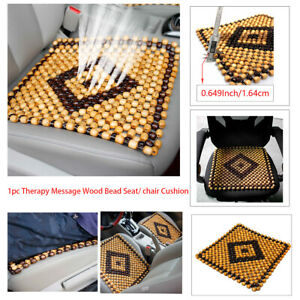 1pc Therapy Massage Car Seat Cover Cushion Natural Wood Bead Summer Chair Cool