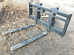 New Cat Wheel Loader Forks Fits Cat Style Quick Attach Cat It38