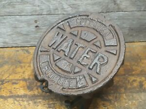 Vintage Industrial Steampunk Cast Iron Water Meter Cover Lamp Base Proyect