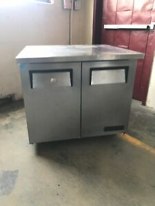 True Tuc 36 24 36 Commercial Undercounter Refrigerator Cooler Used