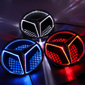 Led Car Star Logo Illuminated Emblem Badge Grille Light For Mercedes Benz 06 13