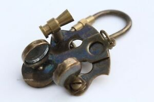 Solid Brass Vintage Sextant Brass Nautical Key Chain Antique Brass Finish