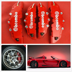 4pc 3d Style Car Universal Disc Brake Caliper Covers Front Rear Kits Gd