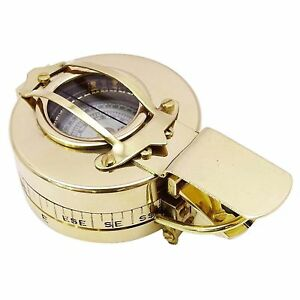 Solid Brass Vintage Prismatic Compass Nautical Pocket Magnetic Navigation Compas