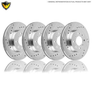 For Ford Focus Svt 2002 2003 2004 Drilled Slotted Front Rear Brake Rotors Dac