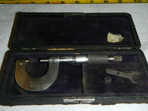 Mahr 1 Micrometer Excellent Cond Carbide Faces Ratchet Clutch Stop Made Germany