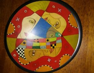 Art Handmade Colorful Wooden Serving Bowl By Jeanine A Guncheon Artist