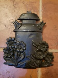 Primitive Decor Milk Can Gexton 1975 Wall Hanging Display Flowers