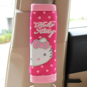 Lovely Hello Kitty Cartoon Car Seat Belt Cover Car Accessories Car Styling 1pair