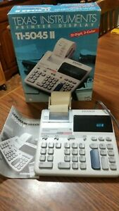 Texas Instruments Electronic Calculator Ti 5045 Ii 12 Digits 2 color Printing