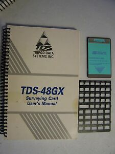 Tds Survey Gx Surveying Card With Manual And Overlay For Use With The Hp 48gx