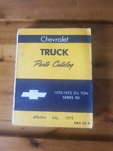 1970 1971 1972 Chevrolet Truck 3 1 2 Ton Illustrated Parts Catalog Series 90