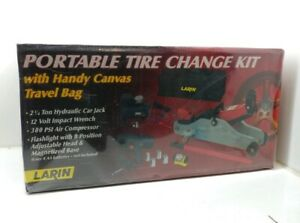 Larin Portable Tire Changing Kit New Jack Impact Wrench Inflator Bag