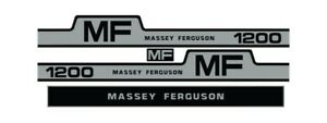 Massey Ferguson 1200 Tractor Hood Grille Decal Set Sticker Vintage 265 255 1105