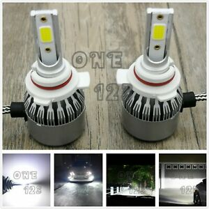 9012 Hir2 Cree Led Headlight Bulbs Conversion Kit High Low Beam 6000k White 55w