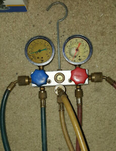 Snap On Ac Manifold Gauge Set W Hoses Actr4151a R12 r134a