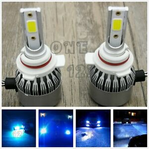 2x 9012 Hir2 Cree Led Headlight Bulb Conversion High Low Beam 8000k Ice Blue 55w