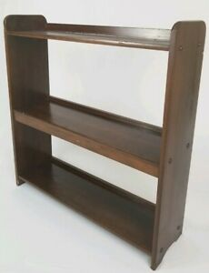 Mid Century Wood Bookcase Book Shelf Table Cabinet Display Stand Vintage 27 1 2