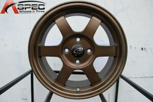 16x7 Rota Grid 4x100 40 Full Royal Sport Bronze Wheels New Set
