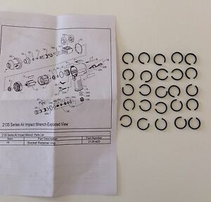 Ingersoll Rand 1 2 Hog Ring 2135 425 For Ir2135 Ir2131 Impact Wrenches 25pcs
