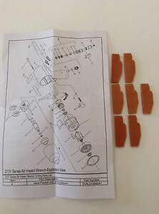 Ingersoll Rand Vane Pack 2135 42 a7 For Ir2135 Also Fits Ir2131 231c g h xp
