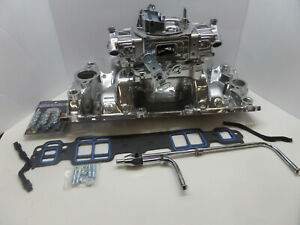Quick Fuel Brawler 750 Cfm Carburetor W sbc Performer Intake complete Chevy Kit