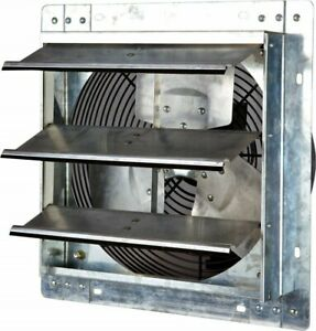 Shutter Mounted Fan Exhaust 12 Garage Cool Air Blades Automatic Explosion Proof