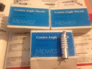 Midwest Contra Angle Sheath Lot Of 3 Handpieces