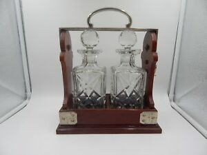 Betjemann S Tantalus Antique Liquor Cabinet Decanter Set Vintage