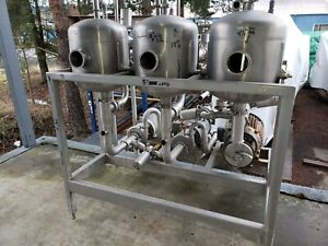Stainless Tank Pump 3 Stage Mixing Station Food Grade 304