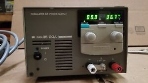 Kikusui Pan35 20a Regulated Dc Power Supply 0 35v 0 20a Tested Good 2
