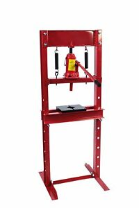 Dragway Tools 12 Ton Hydraulic Shop Floor Press With Press Plates And H Frame Ld