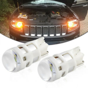 2pcs Amber 4500k T10 W5w Led Bulbs For Parking Lights Newest Powered By Osram