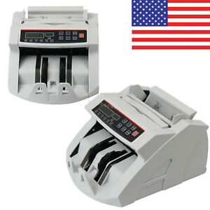 Us Money Bill Currency Counter Counting Machine Counterfeit Detector Uv Mg Cash